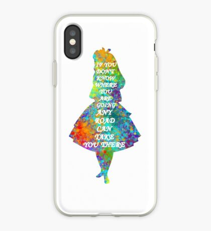 Alicia en el país de las maravillas - Cita - Acuarela colorida Vinilo o funda para iPhone
