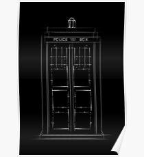 Doctor Who, Tardis (B&W) Poster