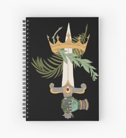 Ace of Swords Spiral Notebook