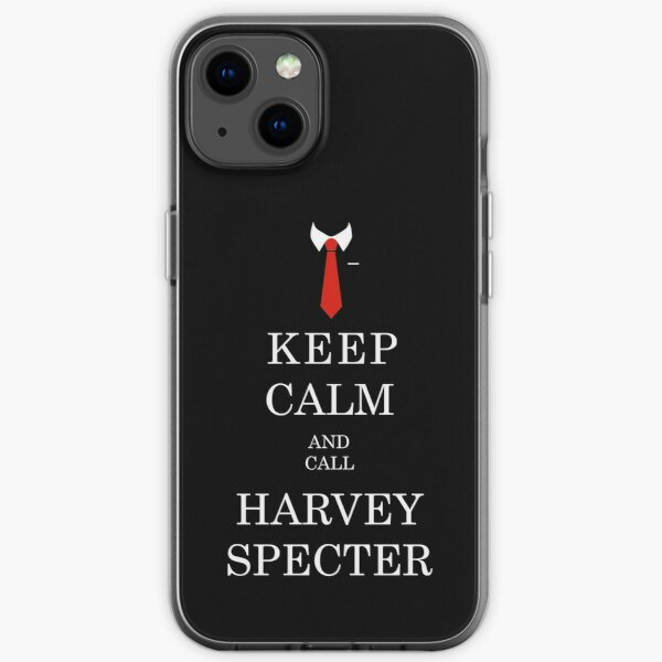 KEEP CALM AND CALL HARVEY SPECTER iPhone Soft Case
