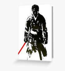 samurai Greeting Card