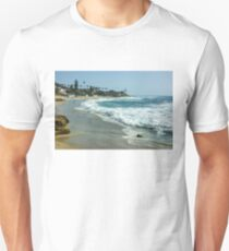 Wipeout Beach in La Jolla California Unisex T-Shirt
