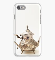 Moroccan Silver Teapot iPhone Case/Skin