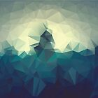 Colorful dark background with geometric blue triangles. Low poly by aquapixel