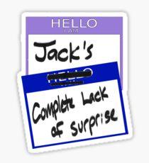 "Fight Club: ""I AM JACK'S COMPLETE LACK OF SURPRISE"" Sticker"