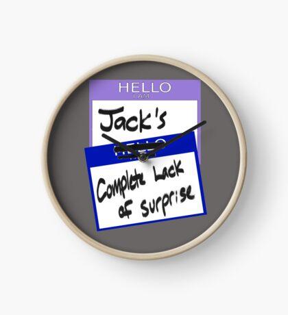 "Fight Club: ""I AM JACK'S COMPLETE LACK OF SURPRISE"" Clock"
