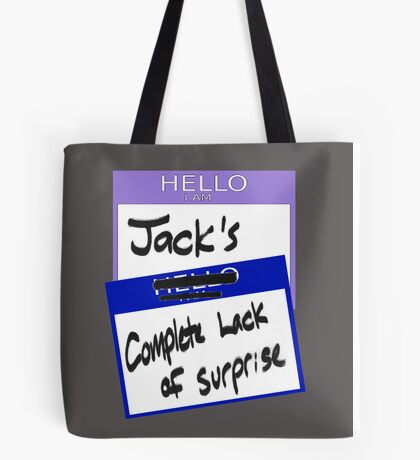 """Fight Club: """"I AM JACK'S COMPLETE LACK OF SURPRISE"""" Tote Bag"""