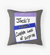 """Fight Club: """"I AM JACK'S COMPLETE LACK OF SURPRISE"""" Throw Pillow"""