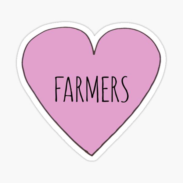 I LOVE FARMERS Sticker