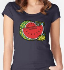 Watermelon Scratch and Sniff Women's Fitted Scoop T-Shirt