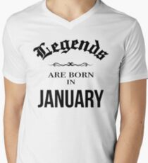 Birthday Legends are born in January T-Shirt