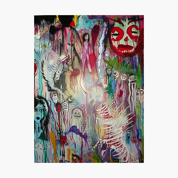 ghosts in psychedelia Photographic Print