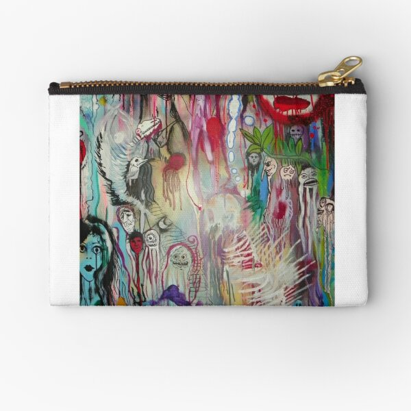 ghosts in psychedelia Zipper Pouch