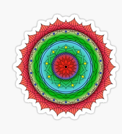 Sunset on the Rockies Mandala Sticker
