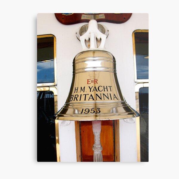 Ship's Bell, Royal Yacht Britannia Metal Print