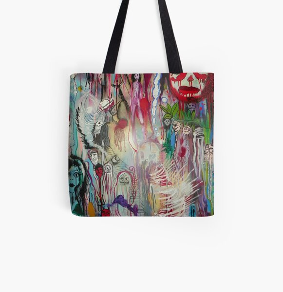 ghosts in psychedelia All Over Print Tote Bag