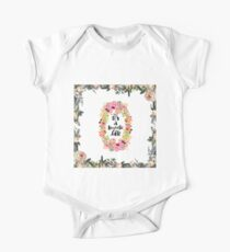 It's a wonderful life, typography,hand painted, floral,flowers,modern,trendy Kids Clothes