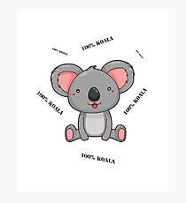 100% Koala Photographic Print