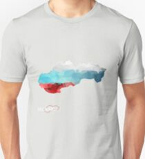 Map of Slovakia with geometric pattern in Slovakia's national colors. Low poly T-Shirt