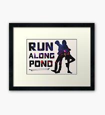 Run Along Pond Framed Print