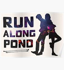 Run Along Pond Poster