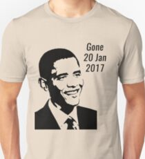 Obama - Gone 20 Jan 2017 Unisex T-Shirt