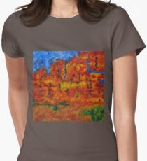 032 Abstract Landscape Womens Fitted T-Shirt
