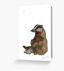 Badger with a Badge Greeting Card