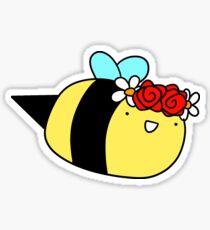Flower Crown Bee Sticker