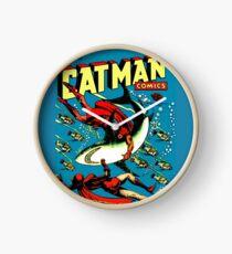 Vintage Catman Comic Book Cover no. 32  Clock