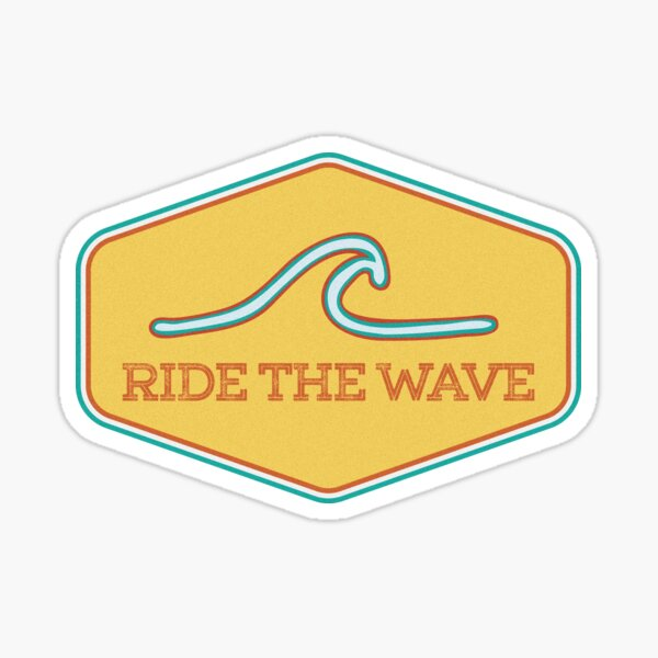 Pegatina Ride the Wave - Vintage Surf Pegatina