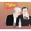 Mystrade - In the Diner by Clarice82