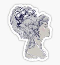 Marie Antoinette Rococo Ship hair Sticker