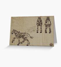 Steam horse Greeting Card
