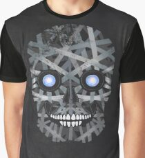 Dark Grey Centered Background With Skull Element  Graphic T-Shirt