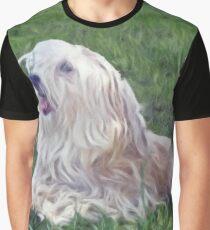 Happy Shaggy Dog Graphic T-Shirt