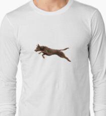 Kelpie Leaping Long Sleeve T-Shirt