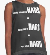 Losing Weight is Hard Contrast Tank