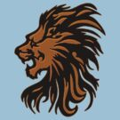 Lion Head Tshirt by Walter Colvin