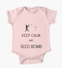 Keep Calm and Seed Bomb One Piece - Short Sleeve