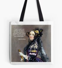 Ada Lovelace (Portrait by Alfred Chalon) Tote Bag