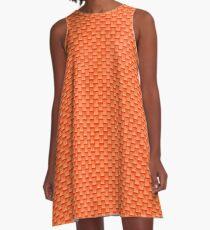 Orange Cream waterfall A-Line Dress