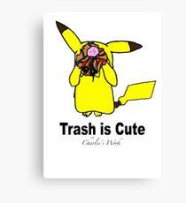 Trash is cute Canvas Print