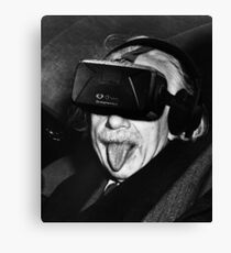 Albert Eintsein VR Canvas Print
