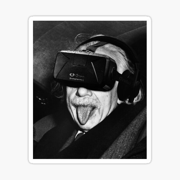 Albert Eintsein VR Sticker