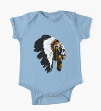 Indian chief skull Kids Clothes