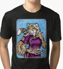 Sushi Cheetah  Tri-blend T-Shirt