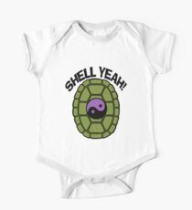 Shell Yeah Purple Sticker One Piece - Short Sleeve
