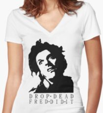 Drop Dead Fred  Women's Fitted V-Neck T-Shirt