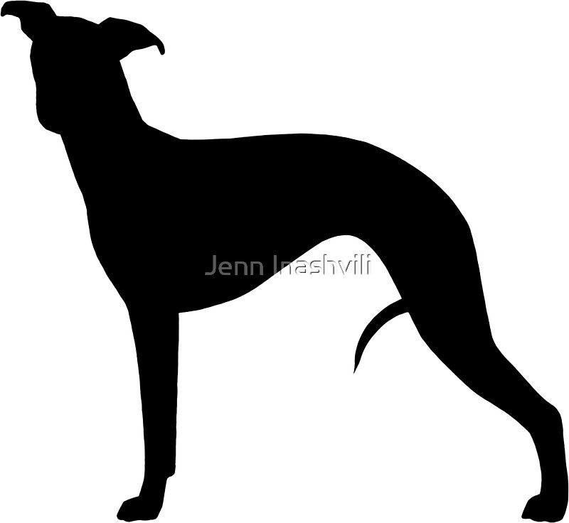 Quot Whippet Silhouette S Quot Stickers By Jenn Inashvili Redbubble
